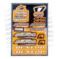 Stickerset - Sponsorkit Ktm / Dunlop