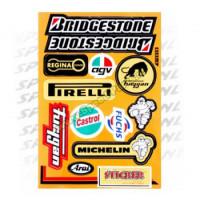 Stickerset - Sponsorkit Bridgestone / Castrol