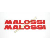 Sticker Malossi woord rood klein (2x)
