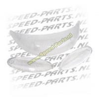 Knipperlichtglasset + achterlichtglas Malaguti F15 wit