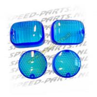 Knipperlichtglasset Malaguti F12 blauw