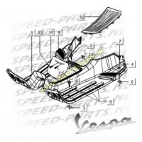 Parkerplaat - Treeplank - Vespa LX