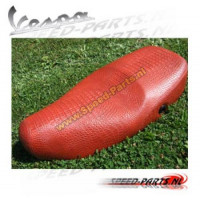 Vespa LX / S - Buddyseat - krokodillenleer - Rood